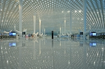 The interior of Shenzhen International Airport designed by Studio Fuksas