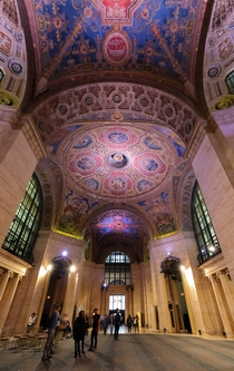 The interior of the Cunard Building in Manhattan New York Built in  in the Neo-Renaissance style