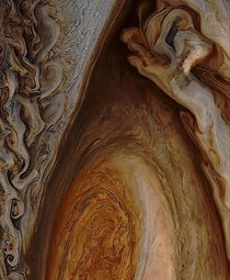 The intricate detail on Jupiters centuries-old storm The Great Red Spot