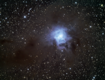 The Iris Nebula from  feet in Bortle  Skies