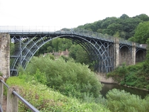 The Iron Bridge over the River Severn Shropshire England