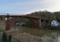 The Iron Bridge Shropshire England Worlds first major cast iron bridge