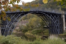 The Iron Bridge -  The first bridge ever made of iron ushering in the Industrial Revolution Shropshire UK