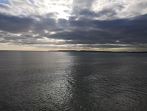 The Isle of Purbeck across the bay taken from Boscombe Pier