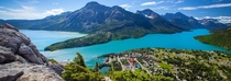 The isolated hamlet of Waterton Alberta