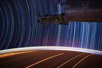 The ISS experiments with long exposure photography  Album in comments