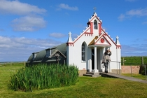 The Italian Chapel Lamb Holm Orkney Scotland One of the worlds smallest Catholic churches constructed between - from two Nissen huts joined end-to-end by Italian POWs held on Lamb Holm during WWII