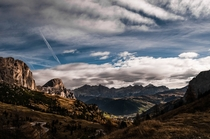 The Italian Dolomites on a cloudy day