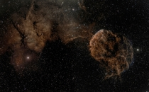 The Jellyfish Nebula part of bubble-shaped supernova remnant IC