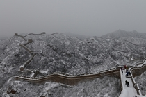 The Jinshanling Great Wall covered with snow on November   in Luanping County China ChinaFotoPress