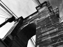 The John A Roebling suspensions bridge connecting Cincinnati OH and Covington KY built  x