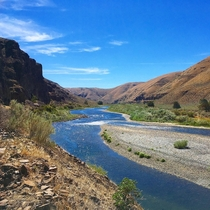 The John Day River flowing through Cottonwood Canyon Oregon