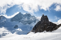 The Jungfrau and the Sphinx Rock Switzerland  Nathan Yan