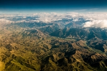 The Kaikoura Ranges slowly becoming the Canterbury Plains South Island of New Zealand