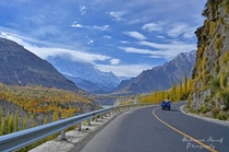 The Karakoram Highway The Worlds Highest International Paved Road at ft passing through Pakistans Hunza Valley  By Shehzaad Maroof  x-post rExplorePakistan