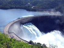 The Kariba Dam shared between Zambia and Zimbabwe