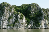 The karst mountains of Halong Bay Vietnam