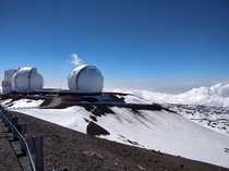 The Keck Telescopes atop Mauna Kea