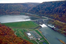 The Kinzua Dam and Allegheny Reservoir