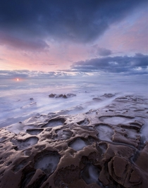 The La Jolla tide pools at sunset with a  exposure Such a beautiful area  apertureofthesky