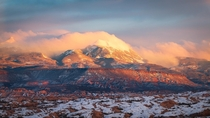 The La Sal Mountains were so impressive when I was in Moab in January got to see an incredible sunset on them I cant wait to go back  IG cwaynephotography