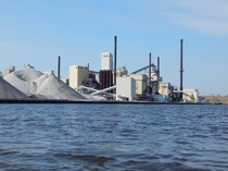 The LaFarge cement manufacturing facility in Superior WI
