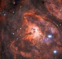 The Lagoon Nebula imaged by the new state-of-the-art telescope facility SPECULOOS Southern Observatory