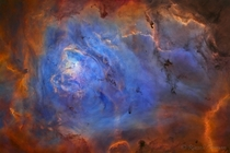 The Lagoon Nebula in Mapped Colour- By Russell Croman
