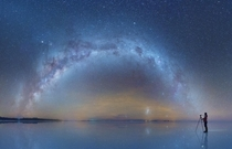 The lake of dreams A salt flat at night taken by Daniel kordan Salar de Uyunibolivia
