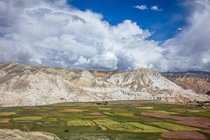 The landscape of Upper Mustang in Nepal