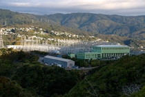 The large electrical substation at Haywards New Zealand