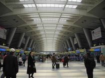 The large indoor space of Beijing South Railway Station