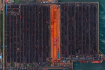 The largest coal hub in the world in Qinhuangdao China