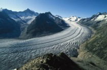 The largest valley glacier in the Alps The Aletsch Glacier Switzerland