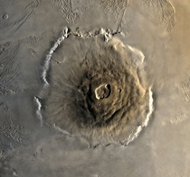 The largest Volcano in the solar system - Olympus Mons