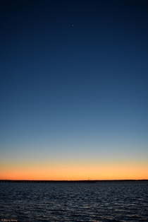 The last light of day with Venus shining bright over NASAs Wallops Island Virginia OC