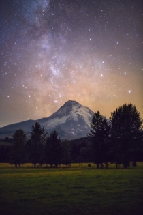 The last Milky Way Image I took in  featuring Mt Hood Oregon