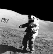 The Last Photograph of an Astronaut on the Surface of the Moon Jack Schmitt LMP of Apollo   am December