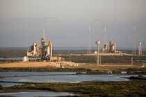 The last time two space shuttles were on the launch pads simultaneously
