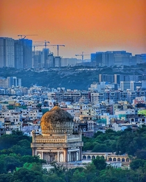 The  layers of Hyderabad India