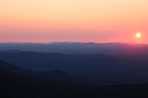 The Layers of the White Mountains During Sunset