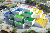 The LEGO House Billund Denmark Build to look like it was constructed of LEGO blocks