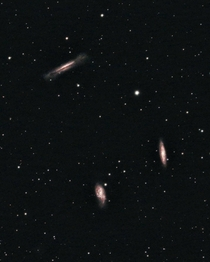 The Leo Triplet - A Bundle of Galaxies Captured From My Light Polluted Backyard