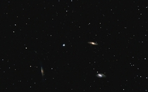 The Leo Triplet  M M and NGC