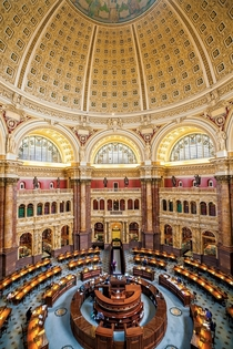 The Library of Congress Washington DC- the largest library in the world with more than  million items