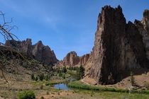The light was harsh but the views were stunning Smith Rock State Park Oregon
