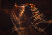 The lighting inside Antelope Canyon Arizona