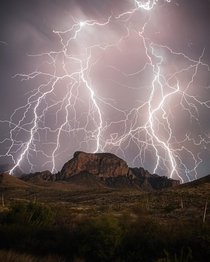 The Lightning Strikes in Big Bend National Park