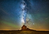 The Lights of Shiprock in New Mexico