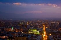the lights of Yerevan Armenia